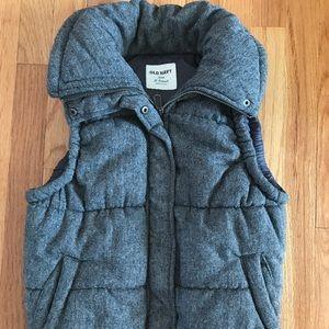Old Navy tweed puffer vest xs
